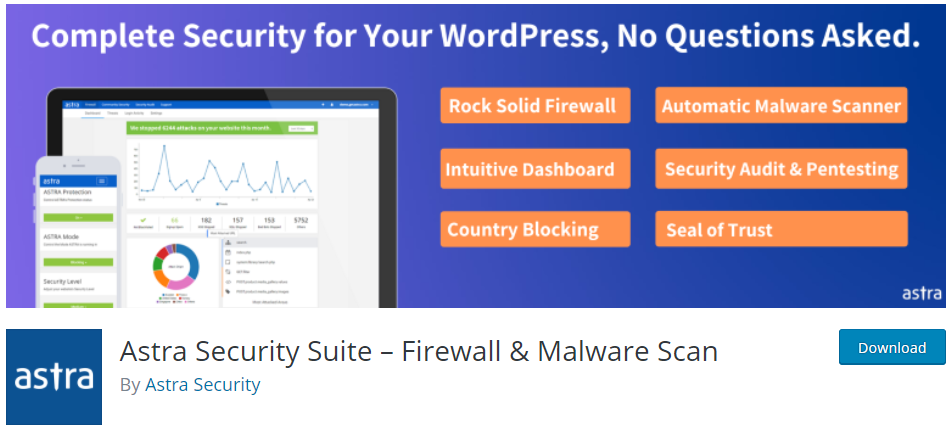 Astra Security Suite for WordPress WAF