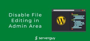 Disable File Editing in Admin Area