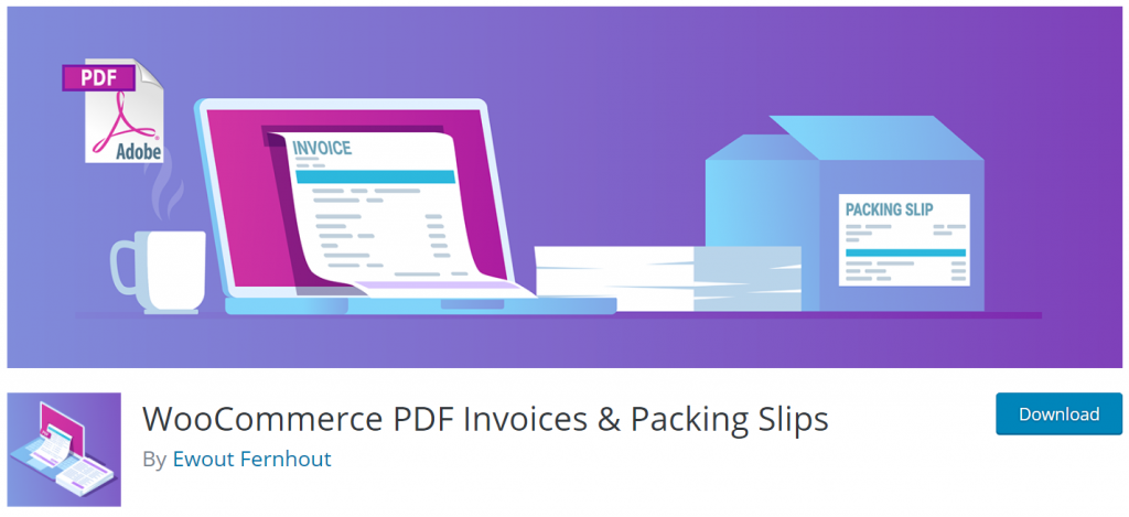 Wood Business PDF Invoice & Packing List